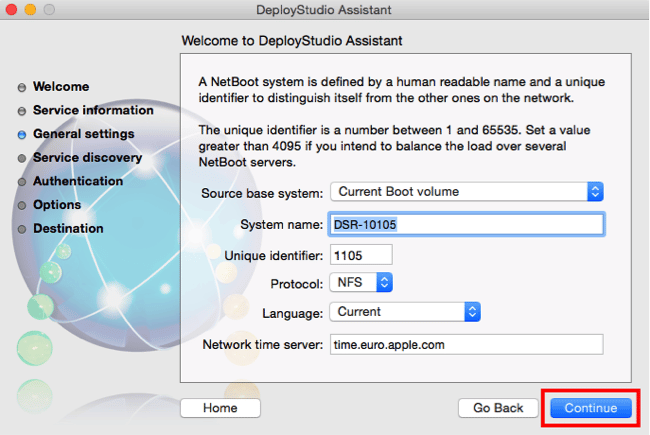 DS - 3 - first netboot settings